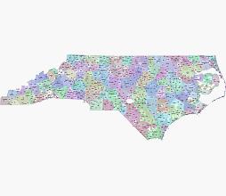 North Carolina digital map