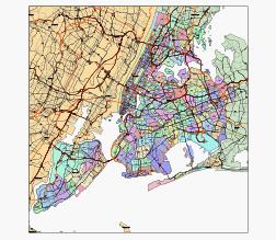 New York City zip code printable map