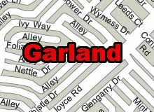 Garland city vector printable vector  map