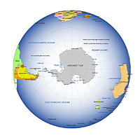 Editable royalty free map of globe in vector graphic online store north and south pole map gumiabroncs Choice Image